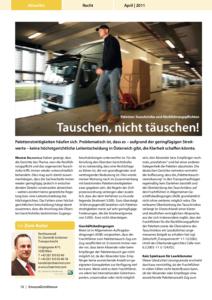 Stragü 04/2011, Dr. Schärmer – Paletten: Tauschrisiko und Rückführungspflichten