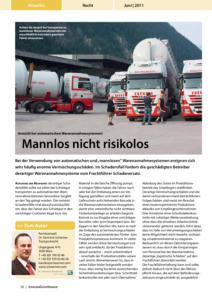 Stragü 06/2011, Dr. Schärmer – Vorsicht bei automatischen Warenannahmesystemen