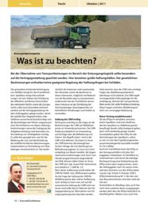 Stragü 10/2011, Dr. Schärmer – Entsorgungstransporte