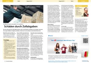 Stragü 08/2012, Dr. Schärmer – Schäden durch Zollabgaben