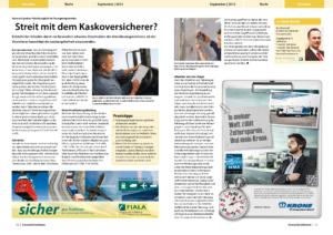 Stragü 09/2012, Dr. Schärmer – Streit mit dem Kaskoversicherer?