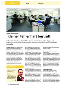 Stragü 06/2013, Dr. Schärmer – Achtung bei Verzollungen!