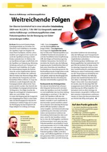 Stragü 07/2013, Dr. Schärmer – Neues zu Aufklärungs- und Beratungspflichten