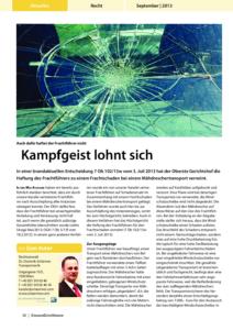 Stragü 09/2013, Dr. Schärmer – Haftung des Frachtführers bei Frachtschaden