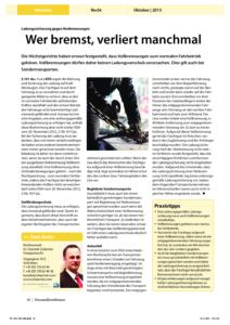 Stragü 10/2013, Dr. Schärmer – Ladungssicherung gegen Notbremsungen