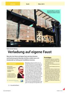 Stragü 03/2014, Dr. Schärmer – Verladung auf eigene Faust