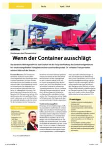 Stragü 04/2014, Dr. Schärmer – Wenn der Container ausschlägt