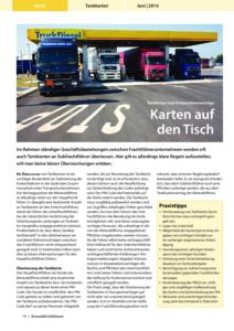 Stragü 06/2014, Dr. Schärmer – Tankkarten an Subfrachtführer