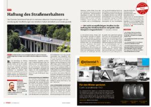 Stragü 09/2014, Dr. Schärmer – Haftung des Straßenerhalters