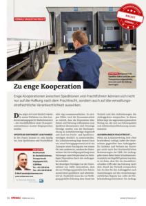Stragü 02/2016, Dr. Schärmer – Zu enge Kooperation zwischen Speditionen und Frachtführern
