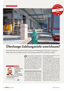Stragü 03/2016, Dr. Schärmer – Überlange Zahlungsziele unwirksam?