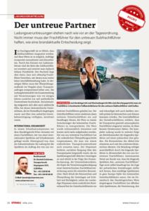 Stragü 04/2016, Dr. Schärmer – Der untreue Partner