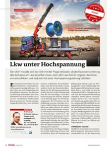 Stragü 06/2016, Dr. Schärmer – LKW unter Hochspannung