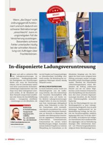 Stragü 10/2015, Dr. Schärmer – In-disponierte Ladungsveruntreuung