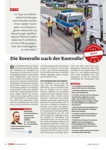 Stragü 11/2015, Dr. Schärmer – Behördliche Kontrollen