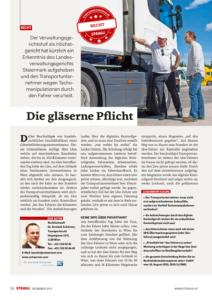 Stragü 12/2015, Dr. Schärmer – Tachomanipulationen durch Fahrer