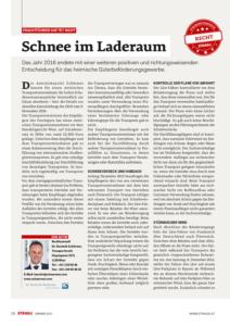 Stragü 01/2017, Dr. Schärmer – Schnee im Laderaum