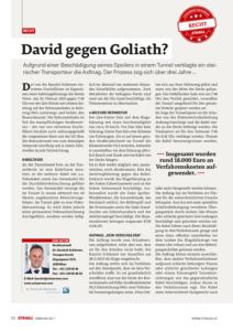 Stragü 02/2017, Dr. Schärmer – David gegen Goliath? Prozess gegen die Asfinag