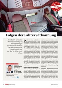Stragü 02/2018, Dr. Schärmer – Folgen der Fahrerverbannung