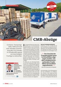 Stragü 07/2018, Dr. Schärmer – CMR-Abzüge