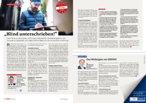 Stragü 04/2018, Dr. Schärmer – Unterschrift in Transportdokumenten