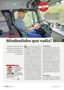 Stragü 06/2018, Dr. Schärmer – Kontrollen Mindestlohn