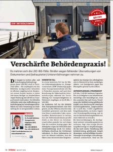 Stragü 08/2018, Dr. Schärmer – Verschärfte Behördenpraxis
