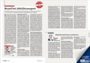 Stragü 04/2019, Dr. Schärmer – Lkw-Brand bei Abfalltransporten!