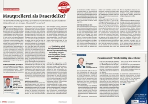 Stragü 11/2019, Dr. Schärmer – Mehrfachbestrafungen bei Mautprellerei zulässig?