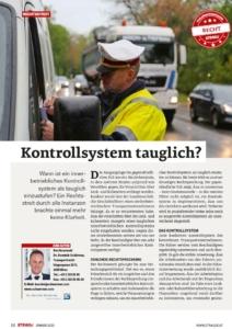 Stragü 01/2020, Dr. Schärmer – Kontrollsystem 2019 – Trotz Gesetzesnovelle keine Änderungen in Sicht