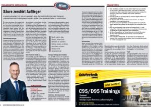 Transporteur 05/20, Dr. Schärmer  – Fehlerhafte Verpackung:  Batteriesäure zerstört neuen Auflieger!
