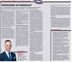 Transporteur 06/20, Dr. Schärmer – Verkehrsleiter im Fadenkreuz?