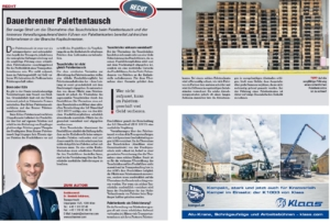 Transporteur 07/20, Dr. Schärmer – Dauerbrenner- Palettentausch!