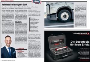 Transporteur 08/20, Dr. Schärmer – Achslast bleibt eigene Last!