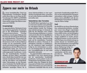 "Transporteur 08/20, A. Miskovez – Der Kampf gegen das ""Ausflaggen"""
