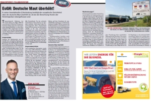 Transporteur 11/20, Dr. Schärmer – EUGH: Deutsche Maut überhöht!