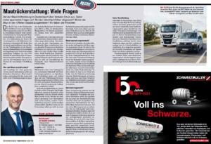 Transporteur 03/21, Dr. Schärmer – Zu viel Deutsche Maut bezahlt?
