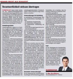 Transporteur 04/21, A. Miskovez – Verantwortlichkeit wirksam übertragen?