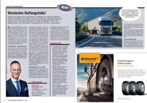 """Transporteur 06/21, Dr. Schärmer – Logistikvertrag als """"versteckte Haftungsfalle""""! – Worauf muss unbedingt geachtet werden?"""